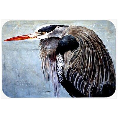 Heron Kitchen/Bath Mat Size: 20 H x 30 W x 0.25 D