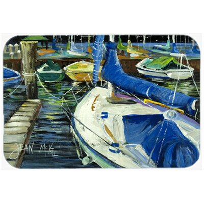 Night on The Docks Sailboat Kitchen/Bath Mat Size: 20 H x 30 W x 0.25 D