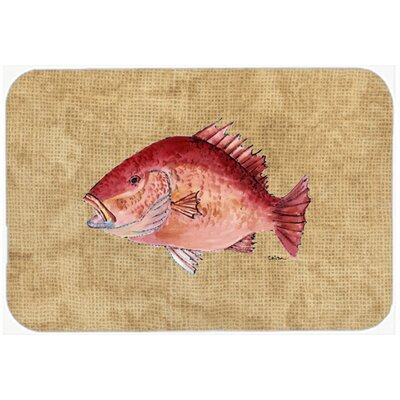 Strawberry Snapper Kitchen/Bath Mat Size: 24 H x 36 W x 0.25 D
