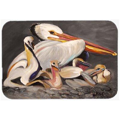 Pelicans Kitchen/Bath Mat Size: 20 H x 30 W x 0.25 D