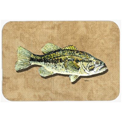 Small Mouth Bass Kitchen/Bath Mat Size: 24 H x 36 W x 0.25 D