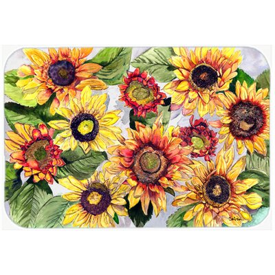 Sunflowers Kitchen/Bath Mat Size: 24 H x 36 W x 0.25 D
