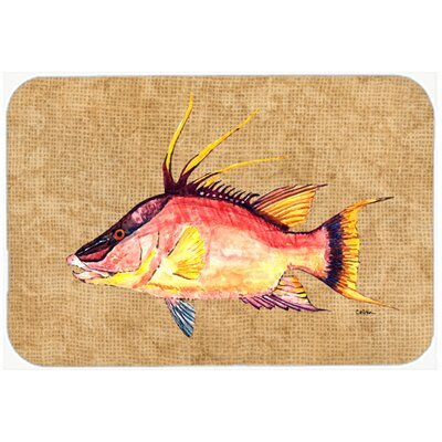 Hog Snapper Kitchen/Bath Mat Size: 24 H x 36 W x 0.25 D
