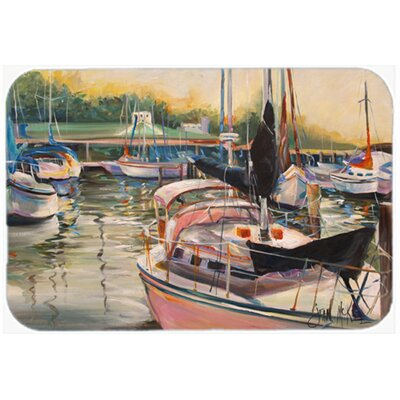 Sails Sailboat Kitchen/Bath Mat Size: 20 H x 30 W x 0.25 D