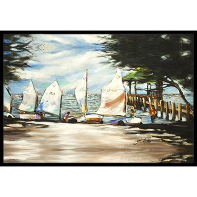 Sailing Lessons Sailboats Doormat Mat Size: Rectangle 2 x 3