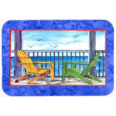 Adirondack Chairs Kitchen/Bath Mat Size: 24 H x 36 W x 0.25 D, Color: Blue
