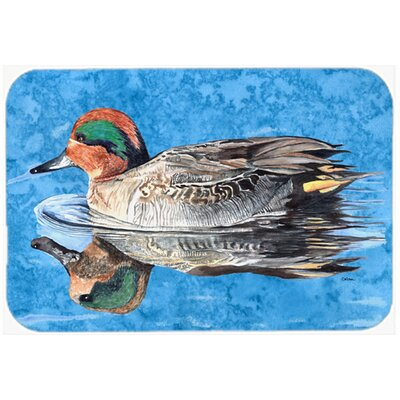 Teal Duck Kitchen/Bath Mat Size: 24 H x 36 W x 0.25 D