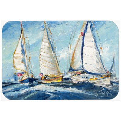 Roll Me Over Sailboats Kitchen/Bath Mat Size: 24 H x 36 W x 0.25 D