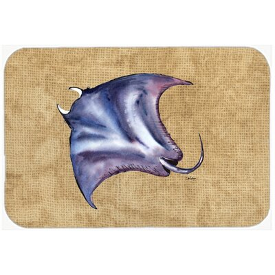 Stingray Kitchen/Bath Mat Size: 24 H x 36 W x 0.25 D