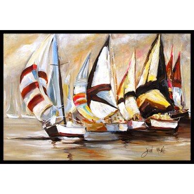 Boat Binge Sailboats Doormat Mat Size: Rectangle 2 x 3