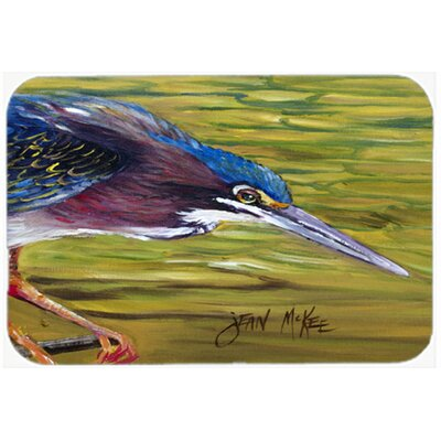 Green Heron Kitchen/Bath Mat Size: 24 H x 36 W x 0.25 D
