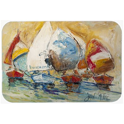 Buzzards Sailboat Race Kitchen/Bath Mat Size: 24 H x 36 W x 0.25 D