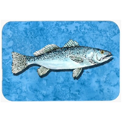 Fish Trout Kitchen/Bath Mat Size: 24 H x 36 W x 0.25 D