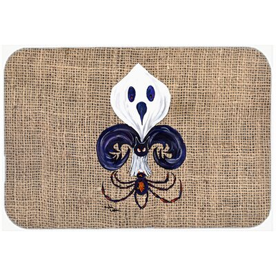 Halloween Ghost Spider Bat Fleur De Lis Kitchen/Bath Mat Size: 20