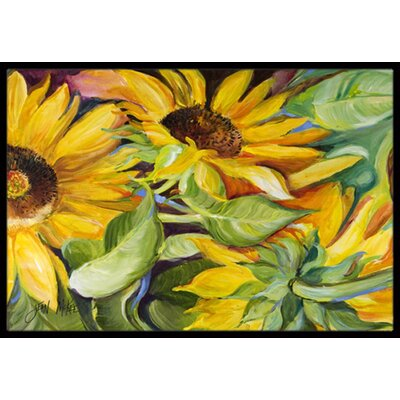 Landon Sunflowers Doormat Rug Size: 2 x 3