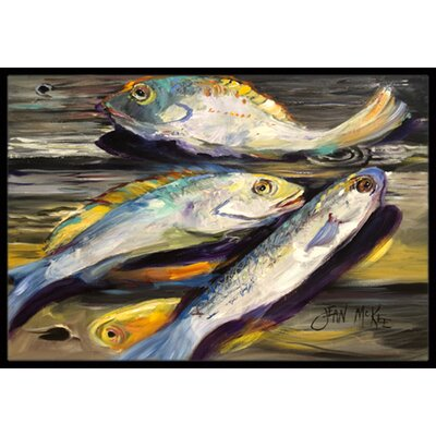 Fish on the Dock Doormat Mat Size: Rectangle 2 x 3