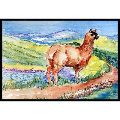 Llama Doormat Rug Size: 16 x 2 3