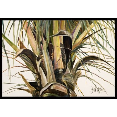Top Coconut Tree Doormat Rug Size: 1'6