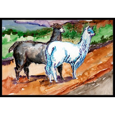 Llama Doormat Rug Size: Rectangle 2 x 3