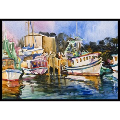 Shrimp Boat Warehouse Doormat Rug Size: 16 x 2 3