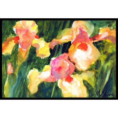 Iris Flower Doormat Rug Size: Rectangle 2 x 3