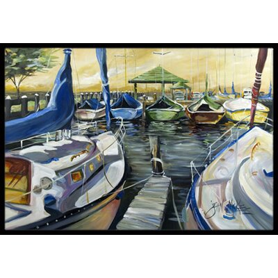 Seven Boats Sailboats Doormat Mat Size: Rectangle 2 x 3
