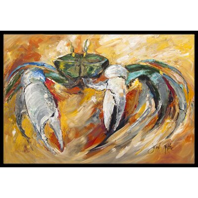 Crab Doormat Rug Size: Rectangle 16 x 2 3