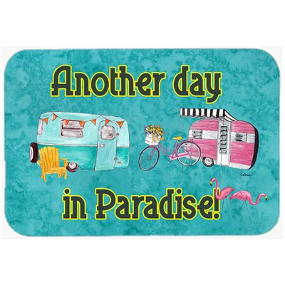 Another Day In Paradise Kitchen/Bath Mat Size: 24 H x 36 W x 0.25 D