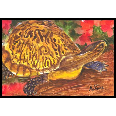Turtle Doormat Mat Size: Rectangle 16 x 2 3
