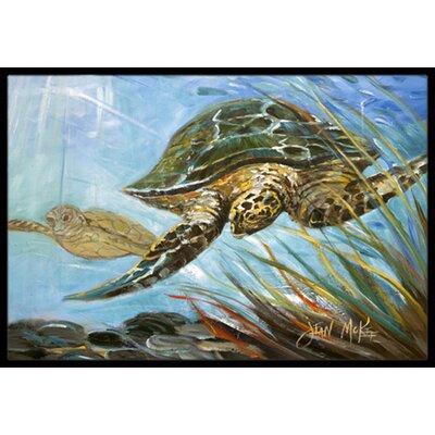 Loggerhead Sea Turtle Doormat Mat Size: Rectangle 1'6