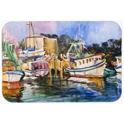 Shrimp Boat Warehouse Kitchen/Bath Mat Size: 20 H x 30 W x 0.25 D