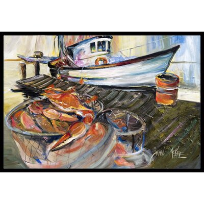 Crab Trap Doormat Rug Size: Rectangle 2 x 3