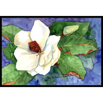 Flower - Magnolia Doormat Rug Size: Rectangle 16 x 2 3