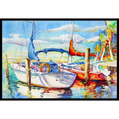 Towering Q Sailboat Doormat Mat Size: Rectangle 16 x 2 3