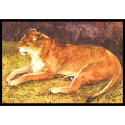 Lion Doormat Mat Size: Rectangle 2 x 3