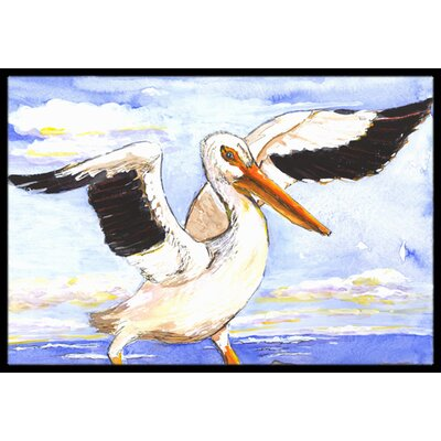 Pelican Bird Doormat Rug Size: Rectangle 2 x 3