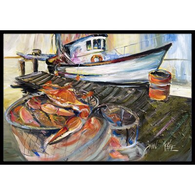 Crab Trap Doormat Mat Size: Rectangle 16 x 2 3