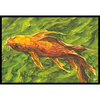 Koi Fish Doormat Rug Size: 16 x 2 3