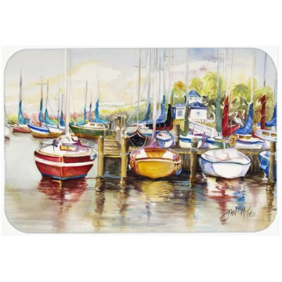 Paradise Yacht Club Ii Sailboats Kitchen/Bath Mat Size: 24 H x 36 W x 0.25 D