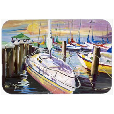 Sailboats At The Fairhope Yacht Club Docks Kitchen/Bath Mat Size: 24 H x 36 W x 0.25 D