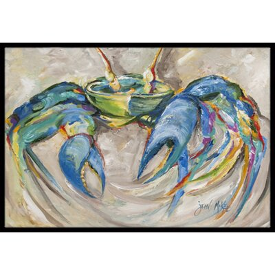 Crab Doormat Mat Size: Rectangle 16 x 2 3