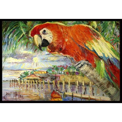 Parrot at Lulus Doormat Mat Size: Rectangle 16 x 2 3