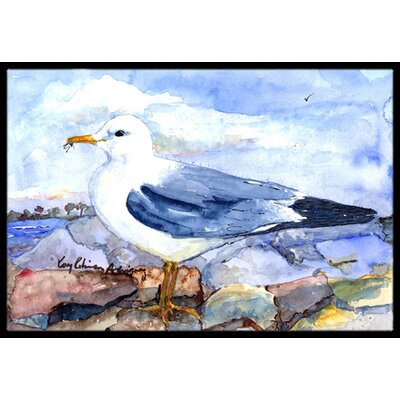 Thayers Gull Bird Doormat Rug Size: 16 x 2 3