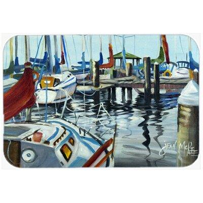 Orange Sail Sailboats Kitchen/Bath Mat Size: 24 H x 36 W x 0.25 D