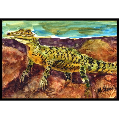 Alligator Doormat Mat Size: Rectangle 16 x 2 3