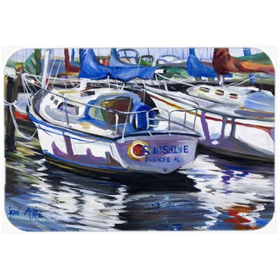 Sunshine Sailboat Kitchen/Bath Mat Size: 20 H x 30 W x 0.25 D
