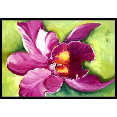 Orchid Doormat Mat Size: Rectangle 16 x 2 3