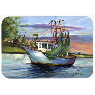 Jeannie Shrimp Boat Kitchen/Bath Mat Size: 20 H x 30 W x 0.25 D