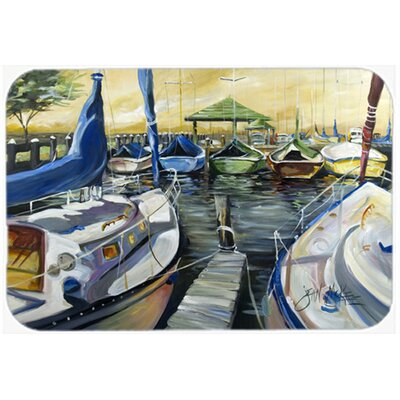 Seven Boats Sailboats Kitchen/Bath Mat Size: 20 H x 30 W x 0.25 D