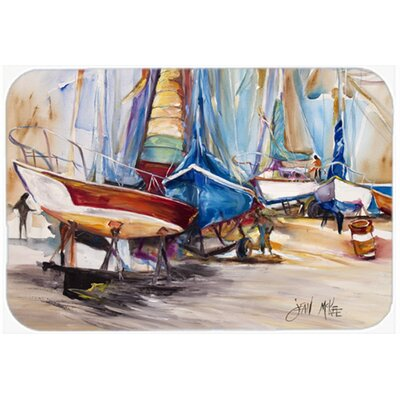 On The Hill Sailboats Kitchen/Bath Mat Size: 20 H x 30 W x 0.25 D